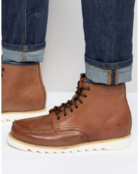 Bellfield - Heritage Boots In Tan Leather - Lyst