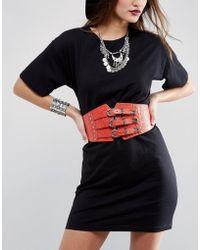 Lovestrength - Josie Triple Buckle Leather Corset Belt - Lyst