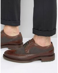 Dune - Bongle Leather Derby Brogue Shoes - Lyst