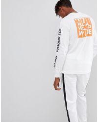 Huf - Long Sleeve T-shirt With International Block Print - Lyst