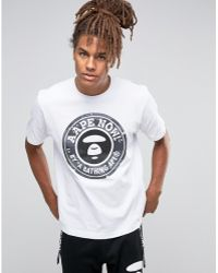 Aape - By Bathing Ape T-shirt With Large Logo - Lyst