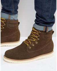 Bellfield - Noma Nubuck Laceup Boots - Lyst