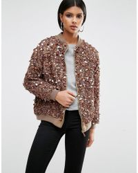 A Star Is Born | Embellished Bomber Jacket | Lyst