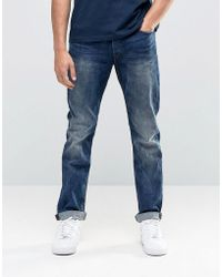 Only & Sons - Vintage Wash Regular Fit Jeans With Stretch - Lyst