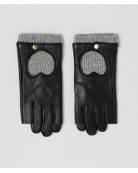 ASOS - Leather & Knit Gloves With Touch Screen - Lyst