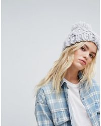 Hollister - Knitted Beanie With Pom Pom - Lyst