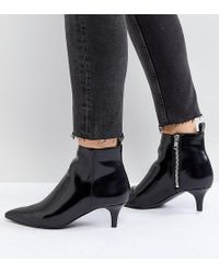 Monki - Kitten Heel Ankle Boot - Lyst