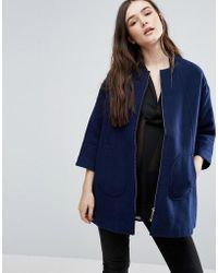 Lavand - Swing Coat In Navy - Lyst