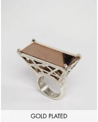 Low Luv by Erin Wasson - Silver Plated Cage Ring - Lyst