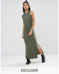 Nocozo - Khaki Maxi Dress With Hood - Lyst