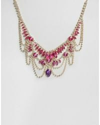 Little Mistress - Jewelled Statement Necklace - Lyst