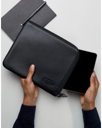 Eastpak - Ipad Mini Case In Black Leather - Lyst