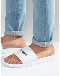 Le Coq Sportif - Slider Flip Flops In White 1621987 - Lyst