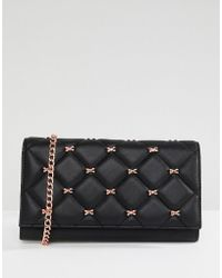 Ted Baker - Quilted Bow Cross Body Purse Bag - Lyst