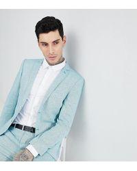 Heart & Dagger - Skinny Wedding Suit Jacket In Herringbone Tweed - Lyst