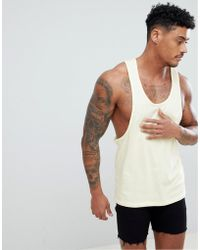 692c7a6a43e9 Lyst - ASOS Amnesia Ibiza Extreme Racer Back Vest With All Over ...