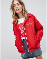 Tommy Hilfiger - Coach Jacket With Scribble Logo - Lyst