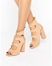 Truffle Collection - Vela Ghillie Block Heeled Sandals - Lyst