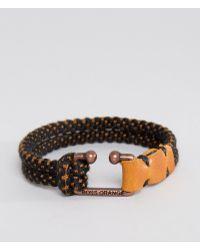 BOSS Orange - Mendrix2 Cord Bracelet In Black - Lyst