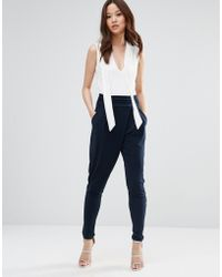 Wal-G   Jumpsuit With Contrast Top   Lyst