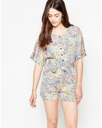 Madam Rage - Playsuit In Paisley Print - Lyst