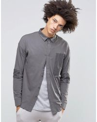 SYSTVM - Cain Shirt In Ash - Lyst
