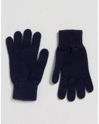 Glen Lossie - Cashmere Glove In Navy - Lyst