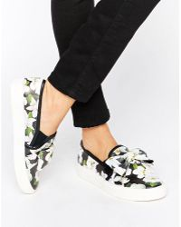Faith | Bow Floral Print Slip On Sneakers | Lyst