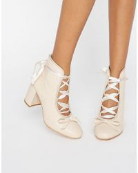 Daisy Street - Nude Ballet Mid Heeled Ankle Boots - Lyst