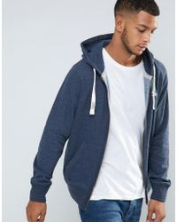 Tokyo Laundry - Fleese Lined Zip Through Logo Hoodie - Lyst
