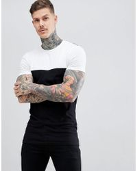 df8c973c ASOS Muscle T-shirt With Floral Yoke And Sleeves In Grey in White ...