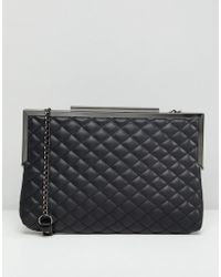 New Look - Quilted Oversized Clutch Bag - Lyst