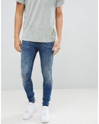 Blend - Flurry Distressed Muscle Fit Jeans In Authentic Wash - Lyst