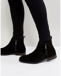Call It Spring - Ocade Suede Zip Boots In Black - Lyst