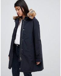 Barbour - Dexy Waterproof Parka With Detachable Faux Fur Hood - Lyst