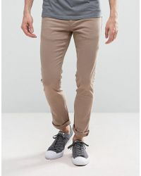 Loyalty & Faith - Loyalty And Faith Skinny Fit Jeans With Light Abbrasions In Stone - Lyst
