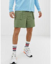 ASOS - Relaxed Utility Shorts In Khaki - Lyst