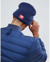 PUMA - Ribbed Classic Beanie In Navy 02170902 - Lyst
