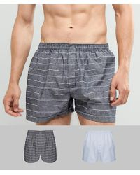 New Look - 2 Pack Woven Boxer Trunks - Lyst