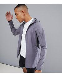 ASOS 4505 - Tall Windbreaker With Breathable Mesh Panels In Grey - Lyst