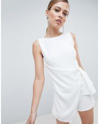 Lavish Alice - Tailored Wrapover Playsuit - Lyst