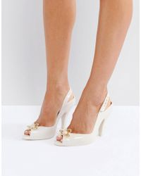 Melissa + Vivienne Westwood Anglomania | Lady Dragon Nude Orb Heeled Shoes | Lyst