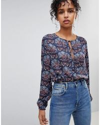 Pepe Jeans - Nicole Floral Print Blouse - Lyst