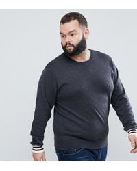 French Connection - Plus Crew Neck Knitted Jumper With Contrast Cuff - Lyst