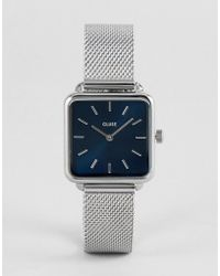 Cluse - La Garconne Cl60011 Contrast Dial Mesh Strap Watch In Silver - Lyst