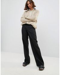 WOOD WOOD - Petra Relaxed Wide Leg Wool Blend Trousers - Lyst