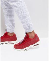 Nike - Air Max 95 Tt Trainers In Red Aj1844-600 - Lyst