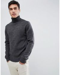 French Connection - Chunky Roll Neck Jumper Plain - Lyst