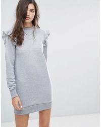 Uncivilised - Ruffle Sweat Dress - Lyst