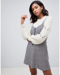 Abercrombie & Fitch - Pinafore Dress In Check - Lyst